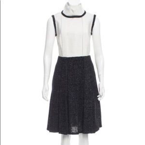 Chanel sleeveless white black & navy tweed…